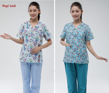 Doctors wear pure cotton mens and womens split suit operating for pets hospital work clothes