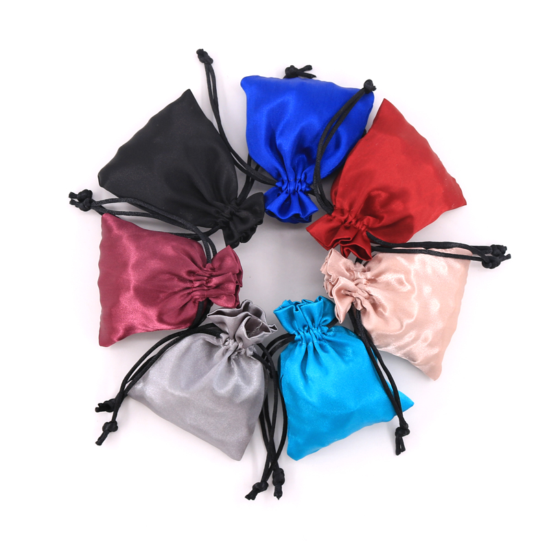10pcs/lot 8*10cm Fashion Jewelry Smooth Satin <font><b>Bags</b></font> Display Drawstring Cosmetic Earrings <font><b>Candy</b></font> Packaging <font><b>Bag</b></font> Pouches image