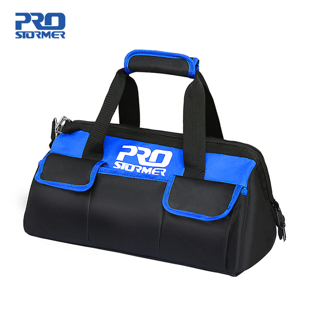 Waterproof Tool Bag with Bag Shoulder Strap Belt 18in  Electrician Portable Working Tools Storage Bags By PROSTORMER 1