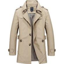 Осенний Тренч мужской хлопковый Тренч мужская верхняя одежда модное повседневное длинное пальто мужские длинные куртки Casaco плюс размер 5XL