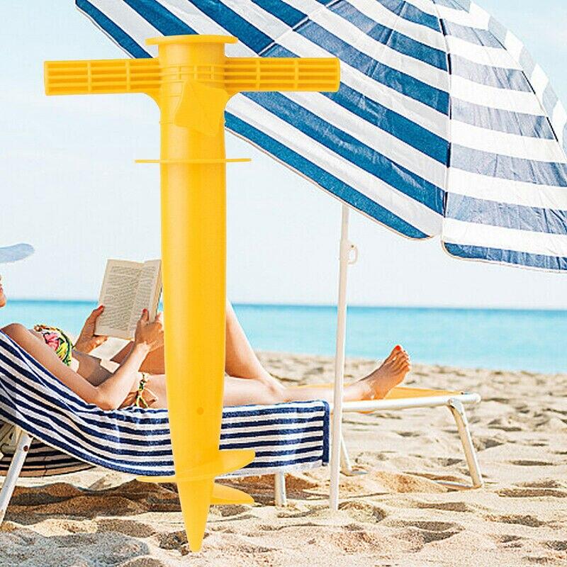 Nowo Protable regulowane Sun Beach stojak na parasole Spike połowów Parasol ziemi kotwica uchwyt VA88