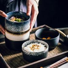 Tigela de arroz japonês criativo simples pequena tigela de cerâmica tigela de sopa casa restaurante tempero tigela de café da manhã