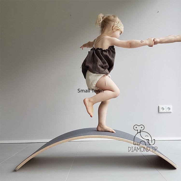 Kids Seesaw Fitness Board Balance Yoga Board Recreation Facilities Photography Props Preschool Education Facilities  Kids Stool