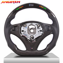 Modification of steering whee Fit For BMW M3M5 1- 4 Series E80 E90 X5 X6 Carbon Fiber LED Itlay Alcantara Car Steering Wheel