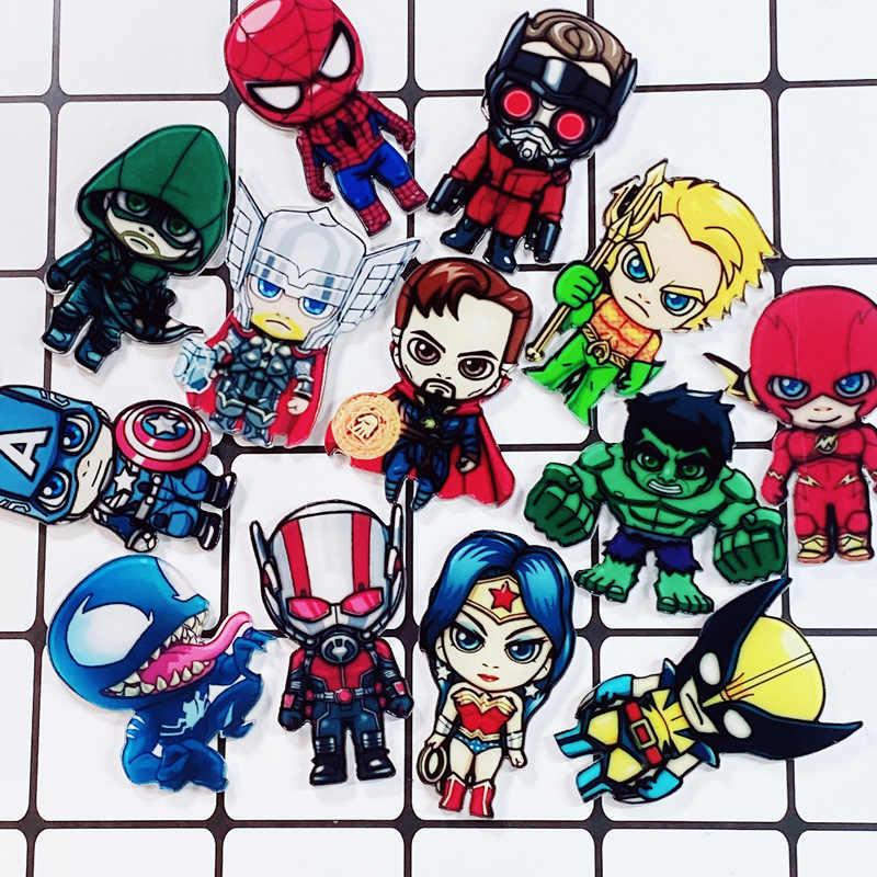Marvel Phù Hiệu Avengers Thổ Cẩm Chân Thor Pin Phim Endgame Trang Sức Người Sắt Đội Trưởng Mỹ Người Nhện Thổ Cẩm Dành Cho Nữ Tặng