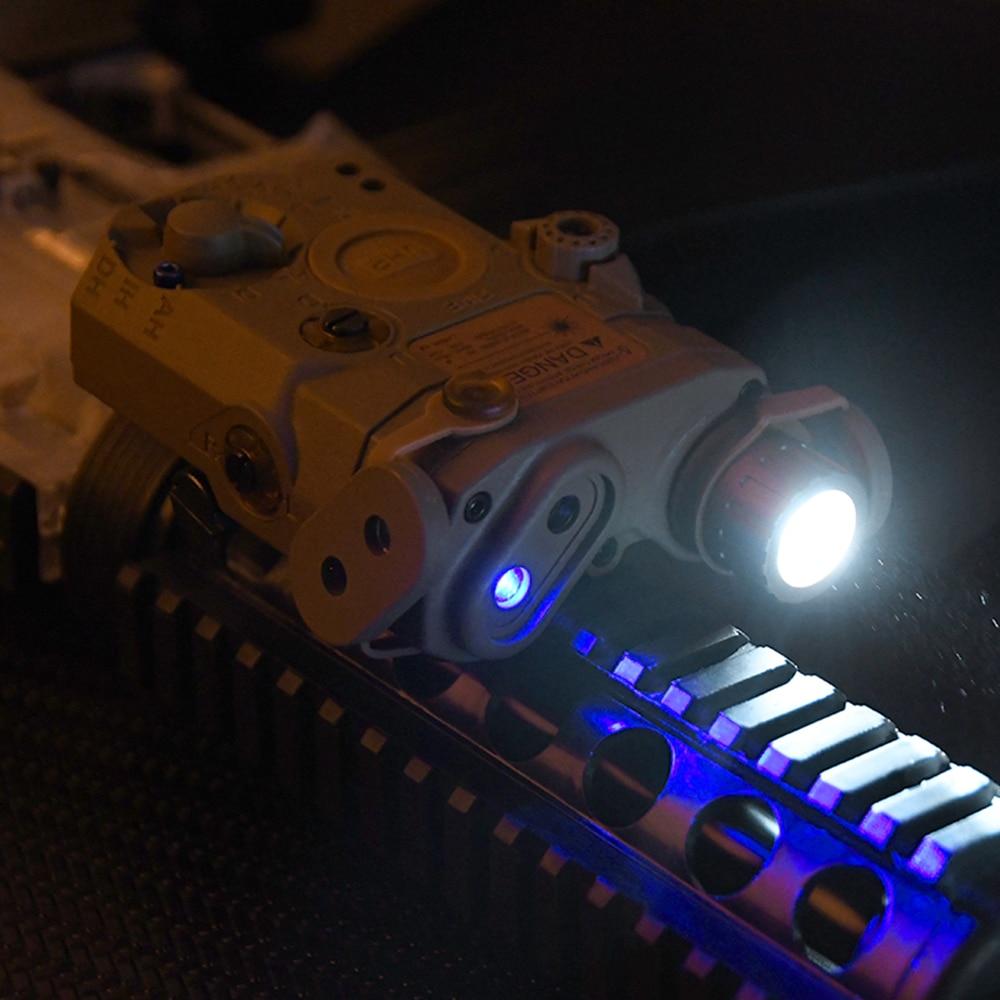 wadsn airsoft peq15 la 5c uhp laser azul luz branca ir laser vista softair peq arma