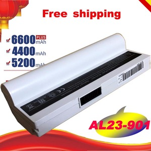 White 7.4v 7800mAh Laptop Battery for Asus Eee PC EPC 901 904HD 1000 1000H 1000HD 870AAQ159571 AL23-901 AL24-1000 Free shipping