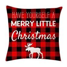 Рождественская наволочка для подушки декоративная гостиной чехол