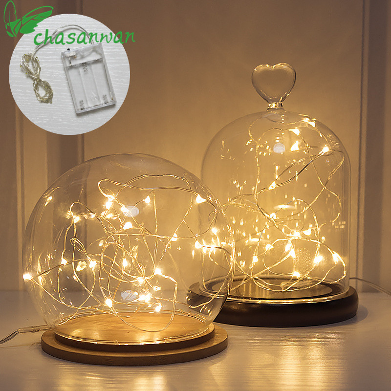 Fairy Lights 2M 3M 10M Copper Silver Wire LED String Lights Waterproof Holiday Lighting For New Year  Christmas Decoration.