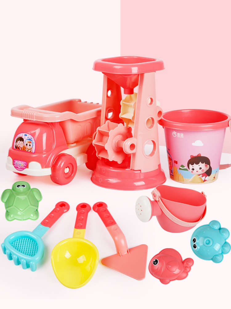 Beach Sand Children Toys For Outdoor Bathroom Beach Pink Bucket Sand Toy Water Table Cadeau Femme Unique Toys For Kids CC50BT