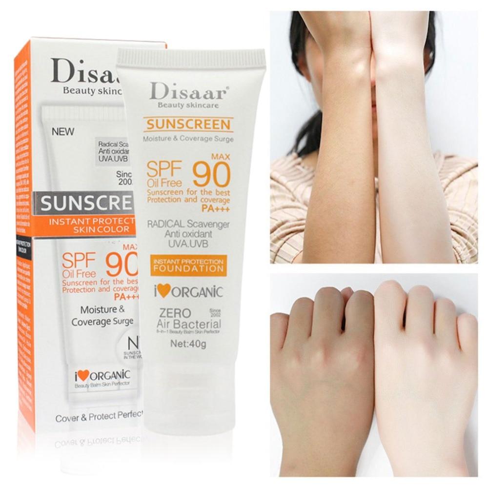 Disaar Facial Body Sunscreen Whitening Sun Cream Sunblock Skin Protective Cream Anti-Aging Oil-control Moisturizing SPF 90 Face