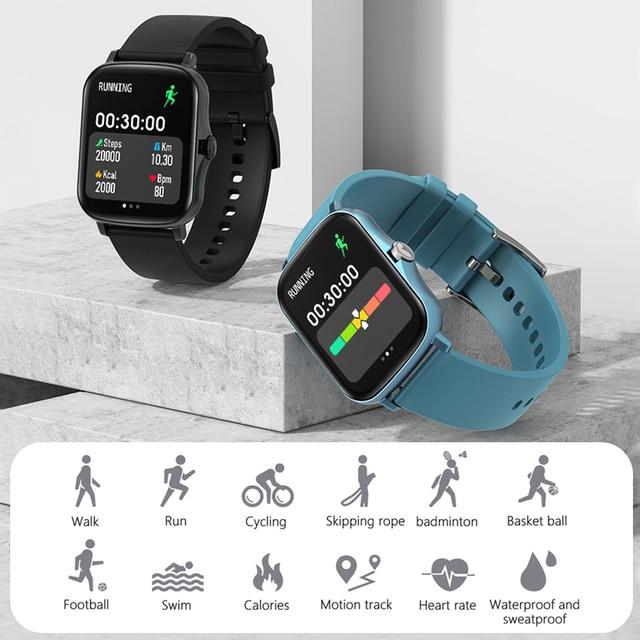 MAFAM  P8 Plus 1.69 inches Smart Watch Men Women Full Touch Fitness Tracker Waterproof Smartwatch 2021  For huawei xiaomi phone 6