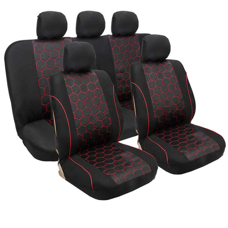 التغطية الكاملة الكتان الألياف غطاء مقعد السيارة مقاعد السيارات يغطي لتويوتا 4 عداء أوريس أفينسيس t25 t27 كامري 40 50 55 70 كورولا e15