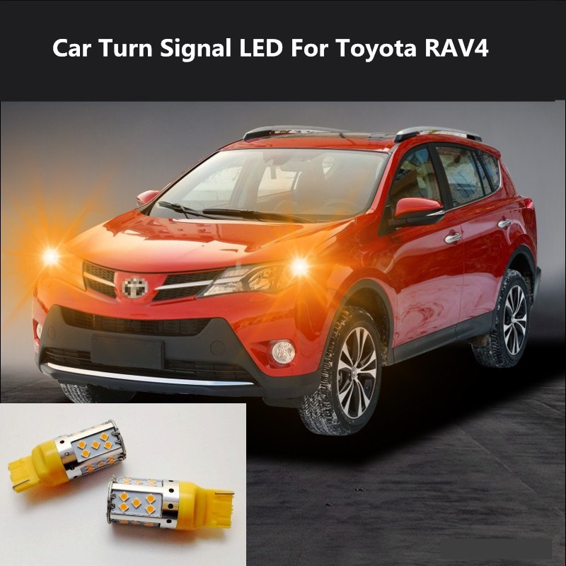 2PCS Car Turn Signal LED Command light headlight modification  For Toyota RAV4 2009-2020 12V 10W 6000K