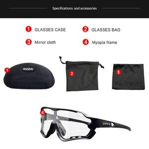 Image 5 - Photochrome Radfahren Sonnenbrille Männer & Frauen Outdoor sport Fahrrad Brille Fahrrad Sonnenbrille Brille Brillen Gafas Ciclismo 1 Objektiv