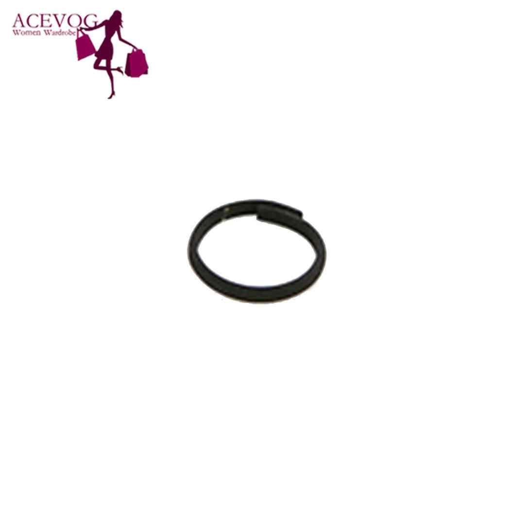 3Pcs ผู้หญิงสีดำ Hollow แหวนชุดธรรมดารอบ, 3 ชิ้น/เซ็ตด้านบน 1.8 ซม./0.7 นิ้ว MIDI Finger Knuckle Rings