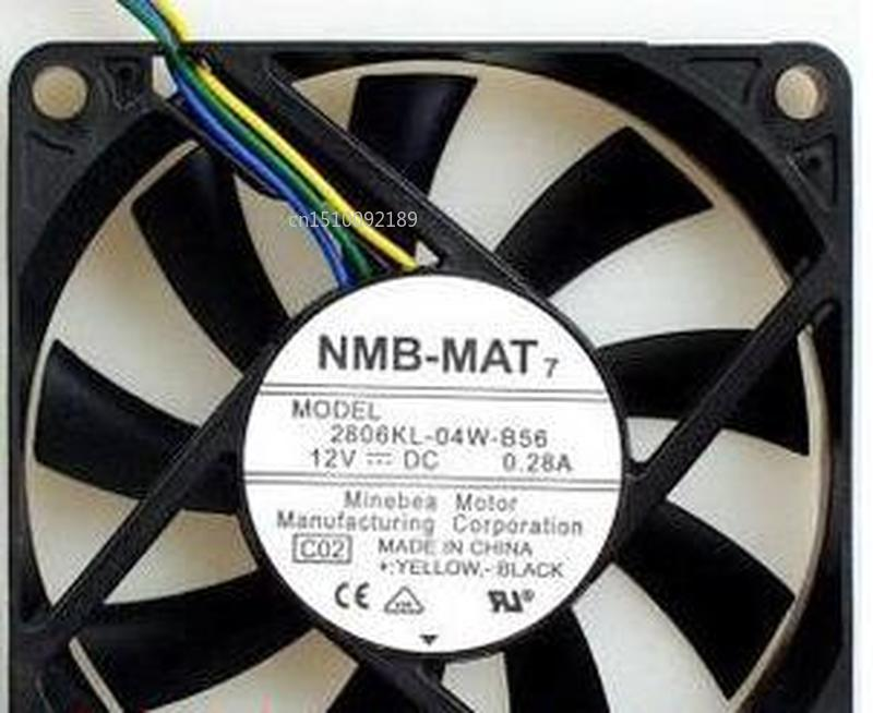 for original 2806KL-04W-B56 7cm 7015 70x70x15mm <font><b>70mm</b></font> <font><b>fan</b></font> 12V 0.28A 4 lines <font><b>pwm</b></font> computer chassis CPU cooling <font><b>fan</b></font> Free shipping image