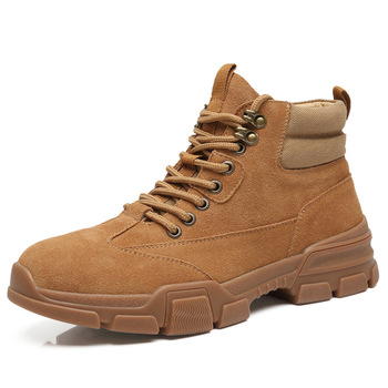 New Men's Winter Boots Genuine Leather Top Quality Outdoor Military Boots Men's Lace Up Desert Boots Casual Male Tooling Shoes