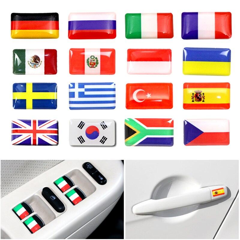 8 шт. руль 3D эпоксидный автомобильный Стайлинг Аксессуары подходит для России Германии Великобритании Италии Испании Швеции национальная А...