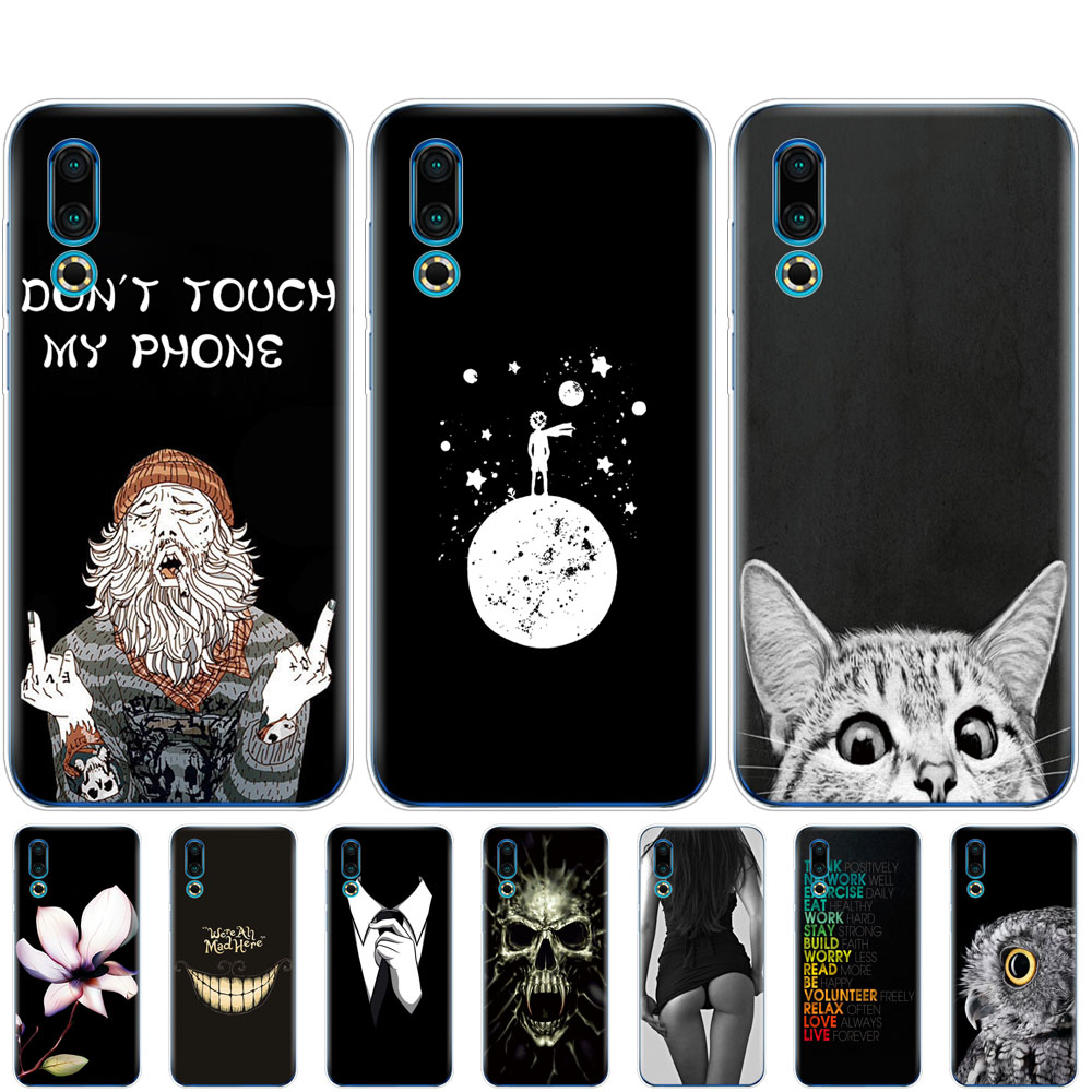 For <font><b>Meizu</b></font> 16S Case coque 6.2'' Soft TPU Silicon phone Cover on For <font><b>Meizu</b></font> 16s <font><b>16</b></font> S bumper Slim fundas full <font><b>360</b></font> Protective black image