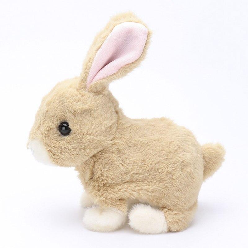 Robot conejo electrónico de peluche mascota Animal interactiva juguetes que caminan juguetes para saltar para los regalos de cumpleaños de los niños