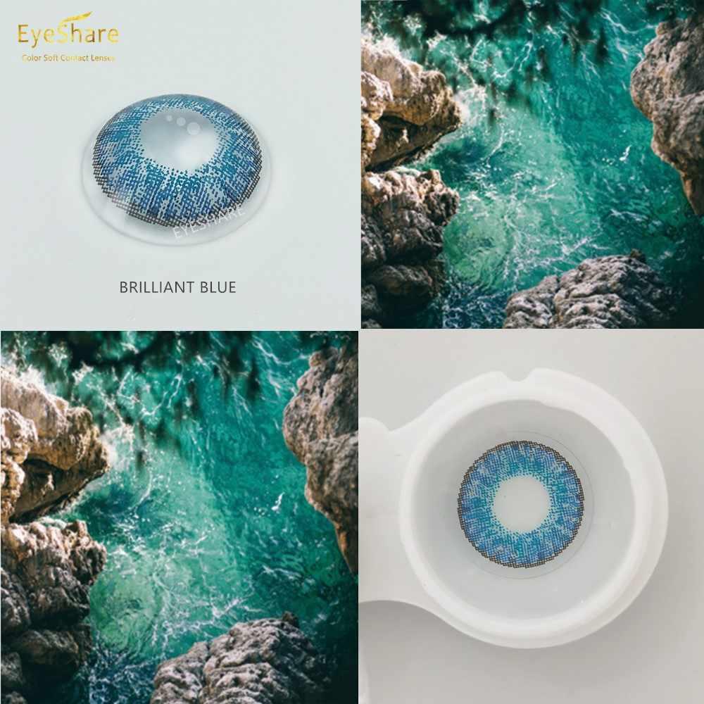 EYESHARE-Soczewki kontaktowe kolorowe seria 3 odcieni, do oczu, 2 sztuki na parę