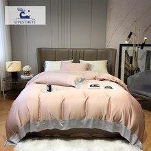 Liv-Esthete Women Pink 100% Silk Bedding Set Pure Healthy Silk Duvet Cover Queen King Flat Sheet Pillowcase Bed Linen For Sleep