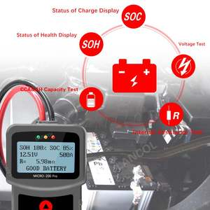Image 3 - MICRO 200 פרו רכב סוללה בודק 12v 24v רב שפה דיגיטלי AGM EFB ג ל רכב עומס סוללה מערכת מנתח לרכב Moto