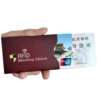 5 sztuk z zabezpieczeniem przeciw kradzieży dla RFID etui zabezpieczające na karty kredytowe blokowanie posiadacza karty rękaw skórzane etui obejmuje ochronę etui na karty bankowe tanie i dobre opinie Metalowe Unisex Stałe 6 2cm cheap anti rfid card holder 8 8cm Id posiadacze kart Karta kredytowa Aluminum Foil Nie zamek