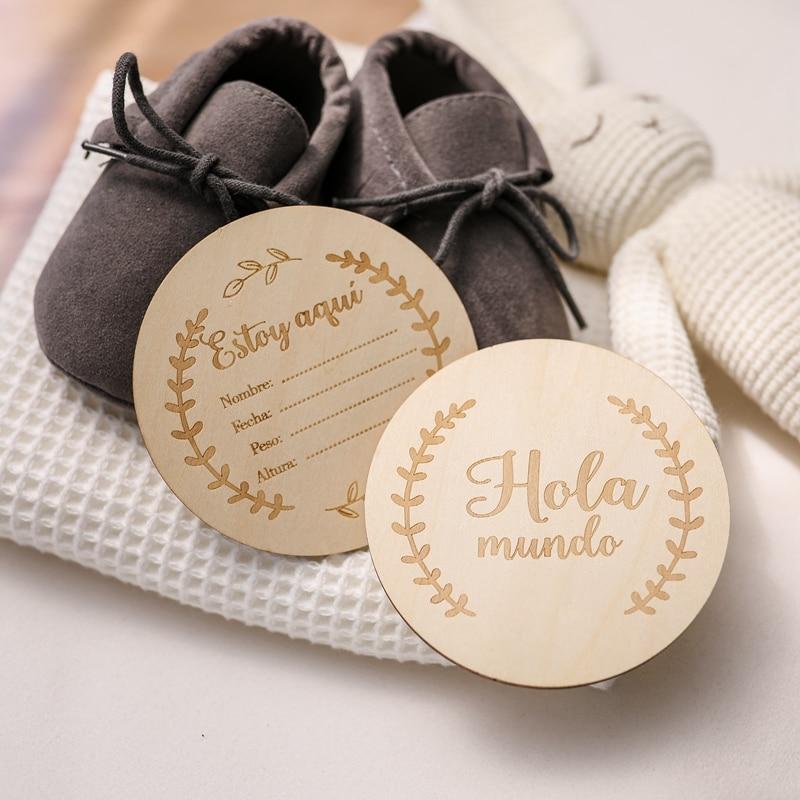 20Pcs Holz Baby Monat Milestone Karte Neugeborenen Geburt Monat Geburtstag Milestone Holz DIY Spielzeug Baby Kinder Fotografie Requisiten Geschenk