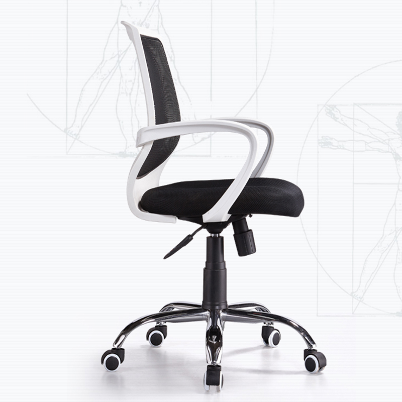 Office Chair Home Computer Chair Simple Mesh Swivel Chair Computer Chair Study Rotation Swivel Staff Chair Waist Support