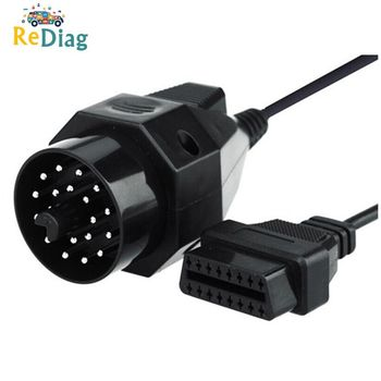 OBD II Adapter For BMW 20 Pin To OBD2 16 PIN Connector E36 E39 X5 Z3 For BMW 20pin Diagnostic Cable For BMW 20 Pin image