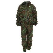 Hunting 3D Camo Leaf Camouflage Suits Ghillie Bionic Training Suit Set CS Savage Kit Storage