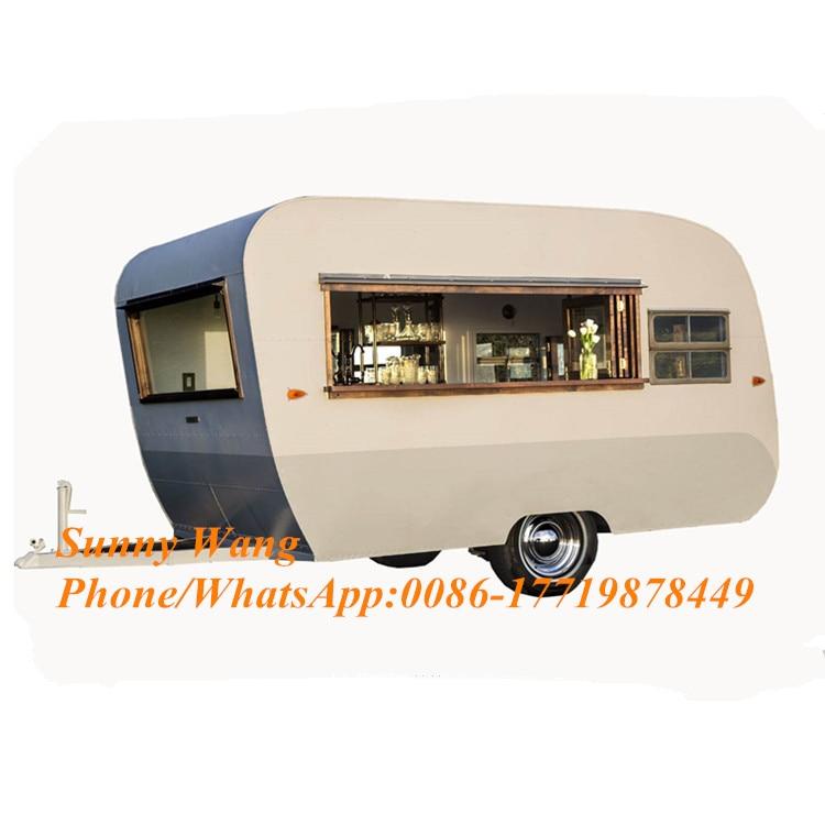 New Street Food Vending Cart Beer Car Vintage Food Truck Mobile Food Trailer For Sale