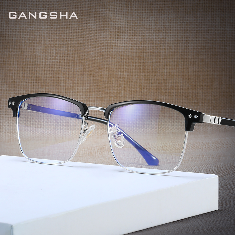 GANGSHA Computer Eye Glasses Frame Ultralight Square Eyeglasses ULTEM Frame Blue Light GlassFor Women Men Oculos De Grau 52016