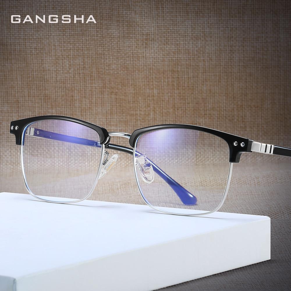 GANGSHA Computer Eye Glasses Frame Ultralight Square Eyeglasses ULTEM Frame Blue Light GlassFor Women Men Oculos De Grau 52016