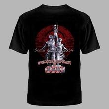 Camisa de algodão dos homens camisa de algodão o-pescoço tshirt t topos harajuku novo russo putin culto militar nascido na urss