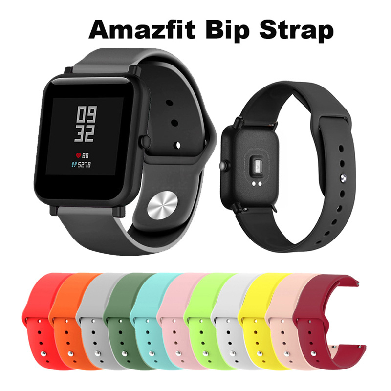 20/22mm Silicone Soft Strap For Xiaomi Huami Amazfit Bip Bit Smartwatch Strap 22mm Wristband For Huawei Watch 2/Samsung Gear S2