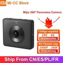 Xiaomi mijia 360 câmera panorâmica 3.5k gravação de vídeo portátil cam ip67 rating wi fi bluetooth filmadora esporte mini câmera