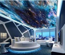 цены Fantasy colorful starry sky ceilings mural 3d ceiling murals wallpaper