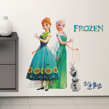 Disney Olaf Elsa Anna Princess Frozen 2 Wall Stickers For Kids Room Home Decoration Diy Girls Decal Anime Mural Art Movie Poster