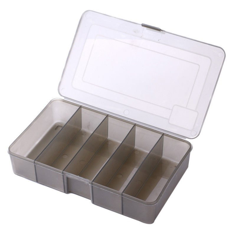 6/10/12 Compartments Storage Case Box Small Accessory Box Square Fishhook Box Plastic Fishing Lure Spoon Hook Bait Tackle Box11