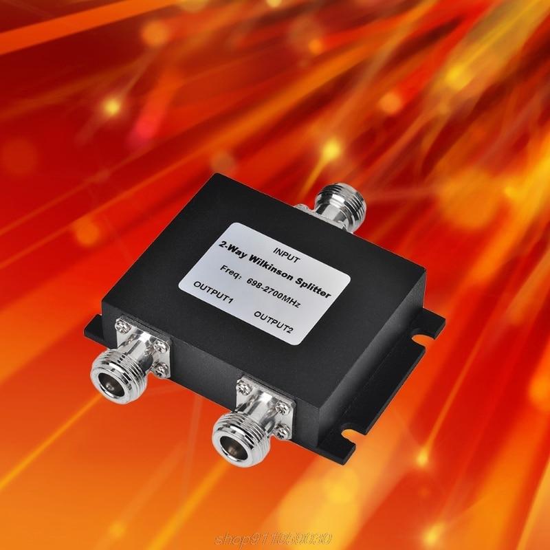 2 Way N Мощность сплиттер микрополосковых 698-2700 МГц N женский Мощность делитель сигнала кабель VHF UHF сплиттер Быстрая доставка M23 21 челнока