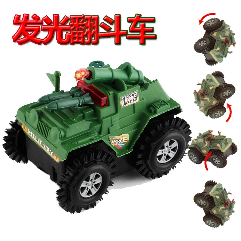 Electric Military Dump Truck Children Electric Buggies Toy Tank Model Stall Hot Selling Product