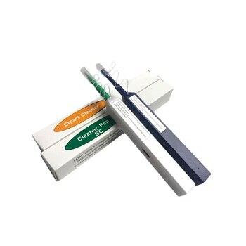 10 Uds. Bolígrafo limpiador de fibra de un clic 1,25mm LC 2,5mm SC para conector de fibra óptica SC FC ST conector Universal herramientas ftth