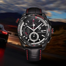 PAGANI DESIGN Chronograph Sport Watches Reloj Hombre Men Luxury Brand Quartz Lea