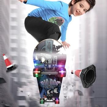 Sports Skate Board Pulley Wheel Wood Board Hoverboard Teenagers Four-Wheel Skateboard Longboard Penny Skate Board