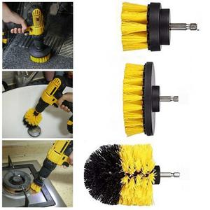 3Pcs/1Pc Power Scrubber Electric Drill Brush Tile Floor Glass Cleaning Tool Nylon Brushes Power Scrubber For Carpet Glass Car