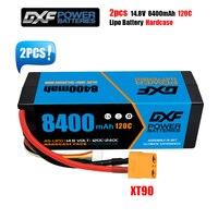 DXF-batería Lipo 2S 3S 4S, 7,4 V, 11,1 V, 14,8 V, 8400mah, 6500mAh, 5200mah, 120C, 100C, 80C, carcasa rígida para coche, barco, Dron, Robot, camión, FPV