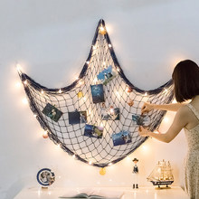Mermaid Party Fish Net Under The Sea Pirate Decoration DIY Photo Wall Ornaments Hanging Photo Display Frame Pictures Holder Net